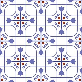Padrão de azulejo colorido
