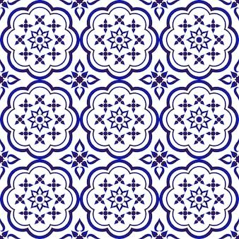 Padrão de azulejo floral