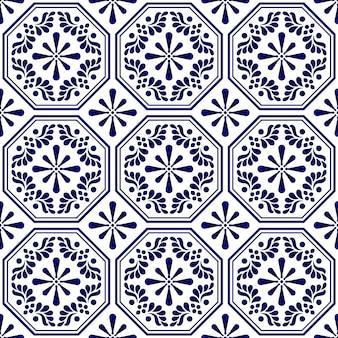 Padrão de azulejo sem costura decorativa