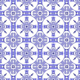 Padrão de azulejos bonitos sem emenda