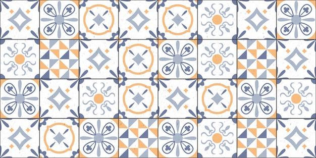 Padrão de azulejos geométricos decorativos