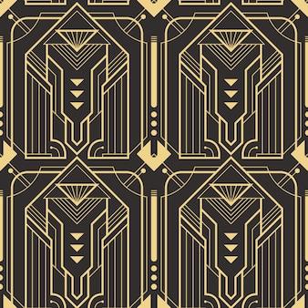 Padrão de azulejos modernos sem costura arte deco abstrata