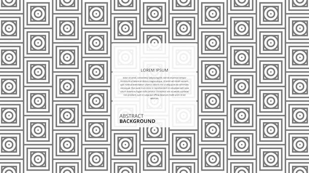Padrão de azulejos quadrados círculo abstrato