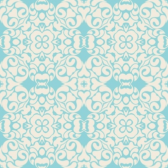 Padrão de azulejos sem costura royal luxo clássico design de vetor de damasco