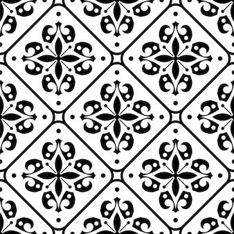 Padrão de azulejos vintage sem costura