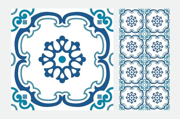 Padrão de azulejos vintage