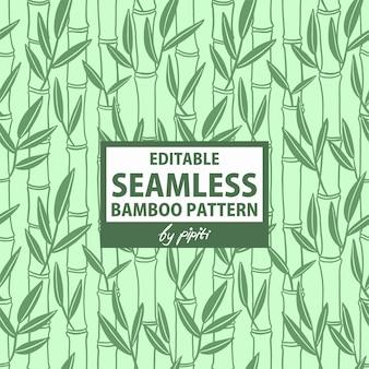 Padrão de bambu sem costura editável