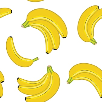 Padrão de banana. textura sem emenda