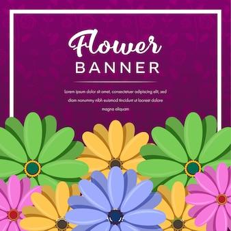 Padrão de banner de flor. ilustração vetorial de fundo