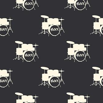 Padrão de bateria, ilustração de música. capa criativa e luxuosa
