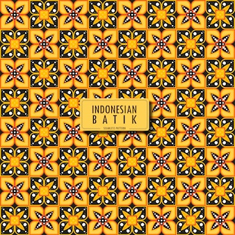 Padrão de batique do truntum de batique da indonésia padrão étnico geométrico design tradicional