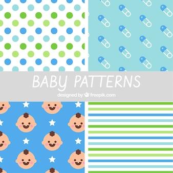 Padrão de bebê definido no design plano