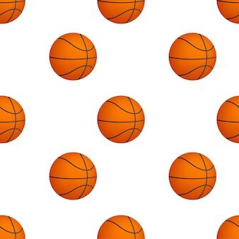 Padrão de bola de basquete em fundo branco. ilustração vetorial.