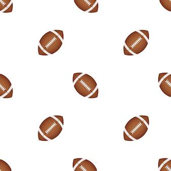 Padrão de bola de futebol americano em um fundo preto. ilustração em vetor das ações.