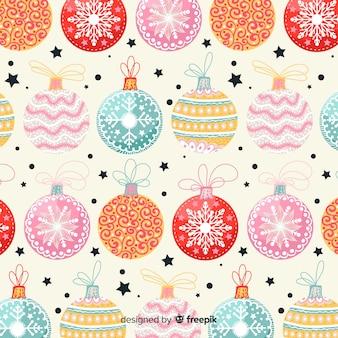 Padrão de bolas de natal