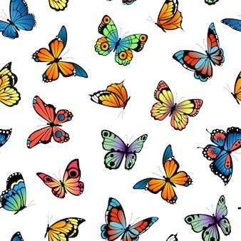 Padrão de borboletas decorativas