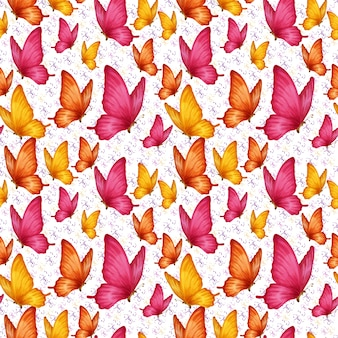 Padrão de borboletas sem costura