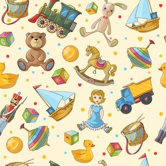Padrão de brinquedos para crianças