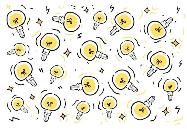 Padrão de bulbo de estilo doodles