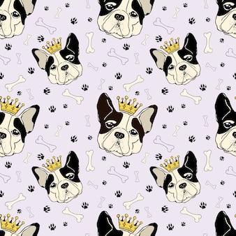 Padrão de cachorro rei