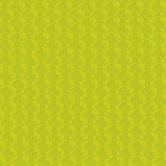 Padrão de cacto mexicano e design de fundo verde.
