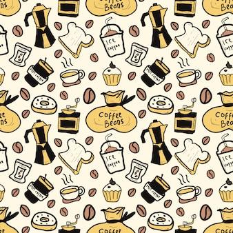 Padrão de café gráfico