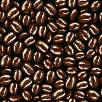 Padrão de café sem costura