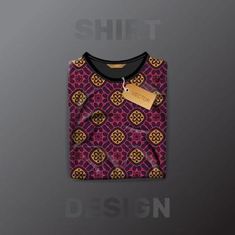 Padrão de camisa sem costura