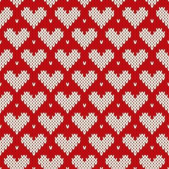 Padrão de camisola de malha. imitação de textura de malha de lã