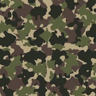 Padrão de camuflagem. design de moda para mascarar, estilo militar. fundo de cores verde, marrom, preto e verde-oliva. ilustração vetorial.