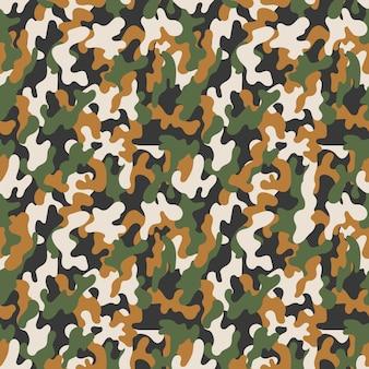 Padrão de camuflagem militar sem emenda de vetor. abstrato sem costura vector