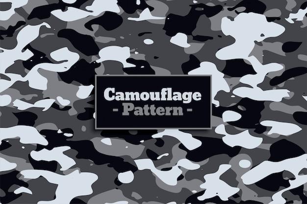 Padrão de camuflagem militar soldado na sombra branca e cinza