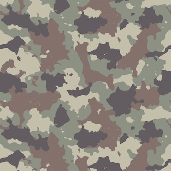 Padrão de camuflagem perfeita ilustração de impressão de repetição de camuflagem de estilo moderno