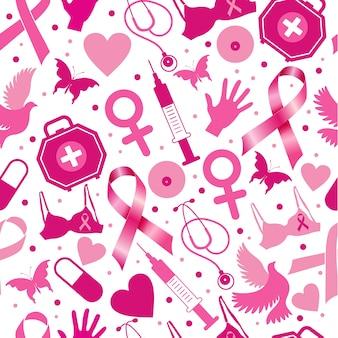 Padrão de câncer de mama para o mês de consciência de outubro.