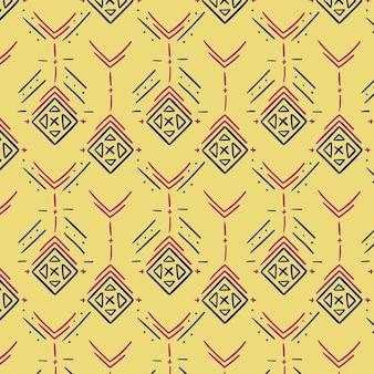 Padrão de canto tradicional amarelo claro