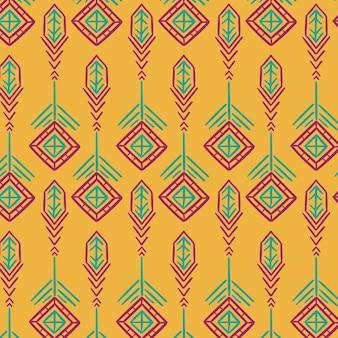 Padrão de canto tradicional amarelo