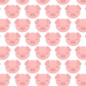 Padrão de cara de porco fofo