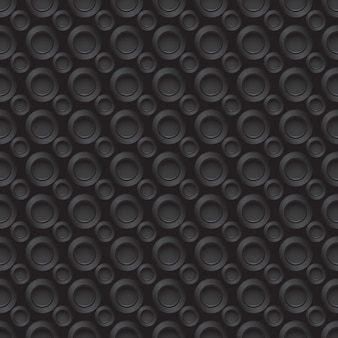 Padrão de carbono uniforme com pequenos orifícios redondos em cores cinza Vetor Premium