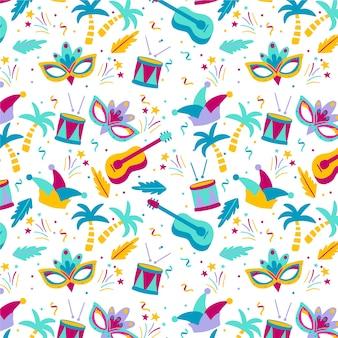 Padrão de carnaval brasileiro colorido