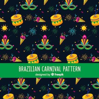 Padrão de carnaval brasileiro escuro