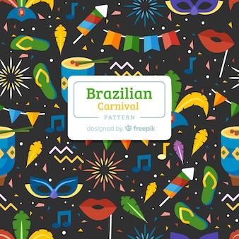 Padrão de carnaval brasileiro plana