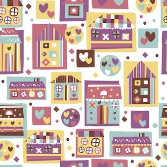 Padrão de casa colorida
