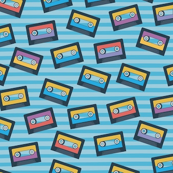 Padrão de cassetes