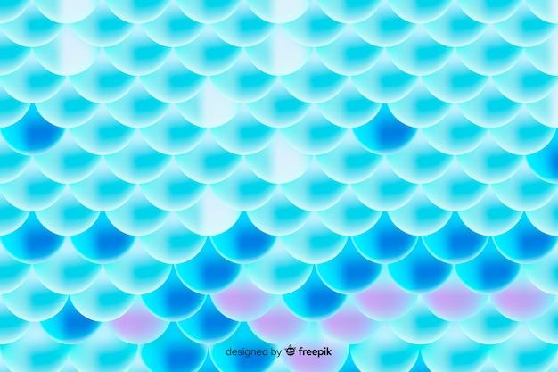 Padrão de cauda de sereia holográfica gradiente