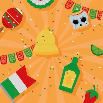 Padrão de celebração mexicana