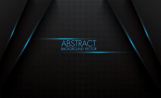 Padrão de círculo abstrato 3d vector fundo preto