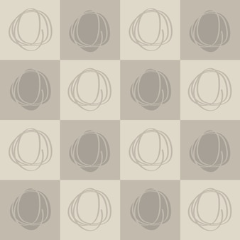 Padrão de círculo abstrato sem emenda