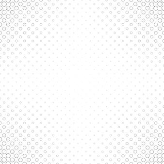 Padrão de círculo preto e branco abstrato