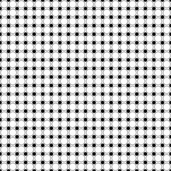 Padrão de círculo preto e branco - fundo do vetor