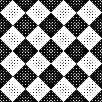 Padrão de círculo preto e branco sem costura geométrica